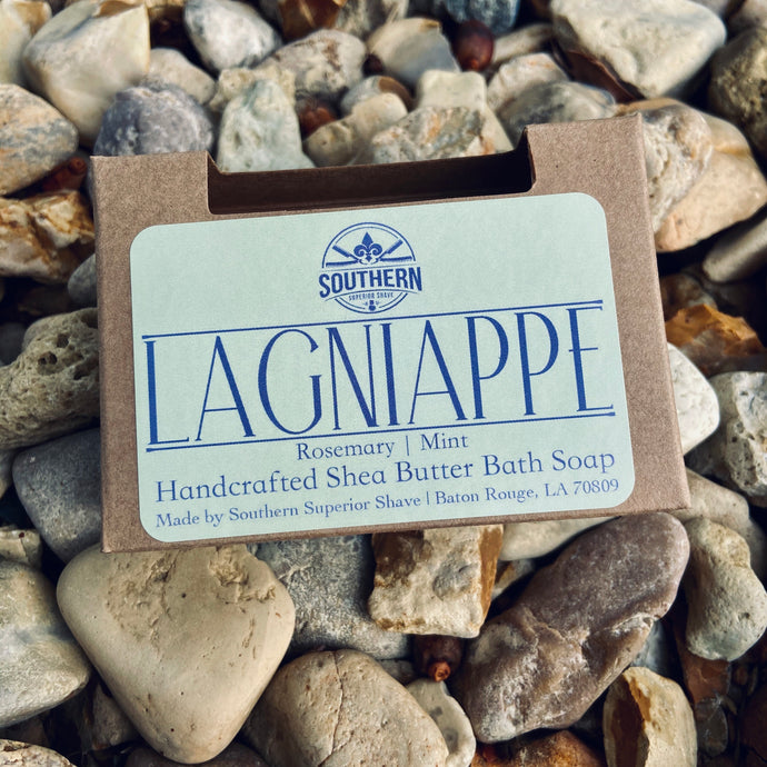 Lagniappe Handcrafted Rosemary and Mint Shea Butter Bath Soap
