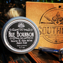 Load image into Gallery viewer, Rue Bourbon Tallow & Shea Butter Premium Handmade Shave Soap