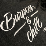 Burpees & chill - Men's sweater Dark Grey - White