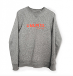 The logo sweater for men - Heather Grey / Red