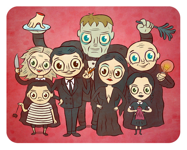 """Addams Family"" 8 x 10 limited edition art print"