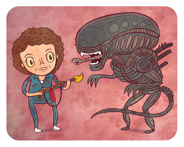 """Alien"" 8 x 10 limited edition art print"