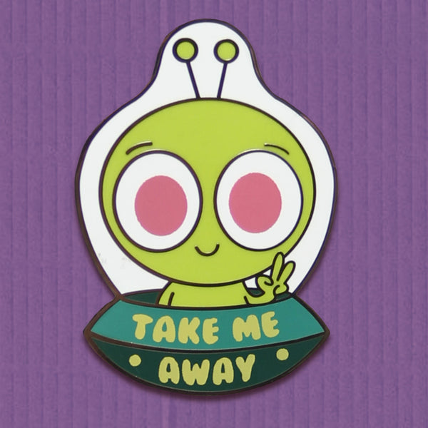 Alien Vacation enamel pin