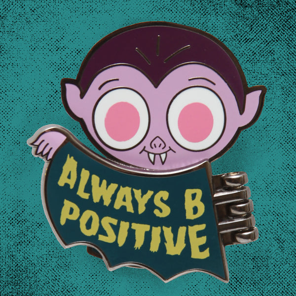 """B Positive"" Halloween 2020 exclusive hard enamel pin"