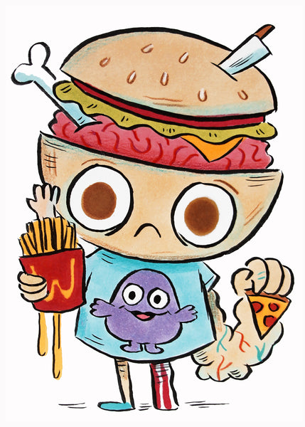 Burger Brain original drawing