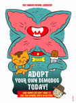 """Adopt a Demodog"" 12 x 16 special edition poster print"