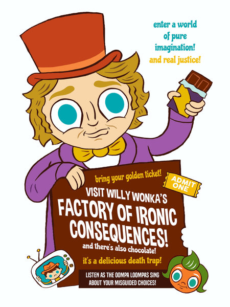 """Factory of Ironic Consequences"" 12 X 16 limited edition poster"