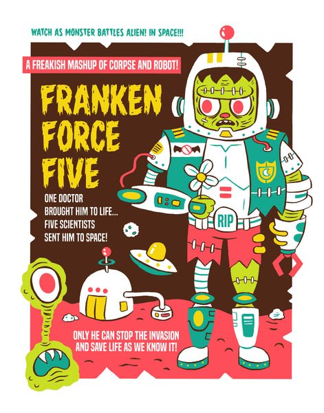 """Franken Force Five"" 11x14 poster"