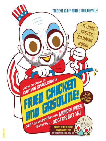 """Fried Chicken and Gasoline"" 12 x 16 limited edition poster"