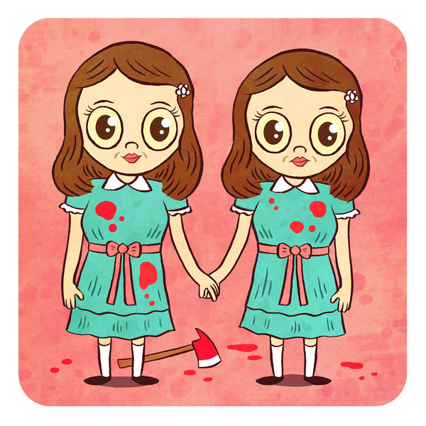 """Grady Twins"" 8 x 8 limited edition art print"