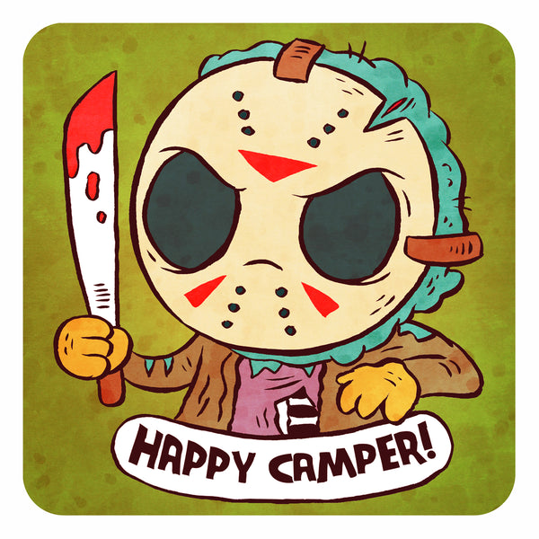 """Happy Camper"" 8 x 8 art print"