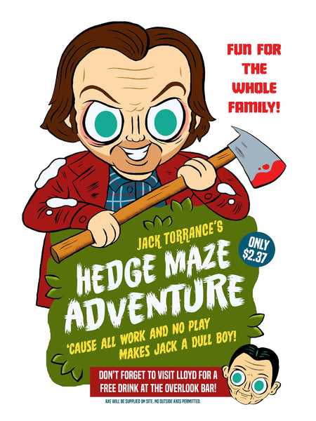 """Hedge Maze Adventure"" 12 X 16 limited edition poster"