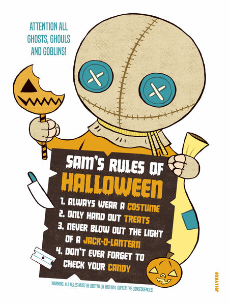 """Halloween Rules"" 12 x 16 special edition poster print"