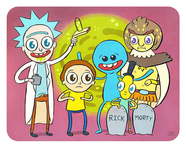 """Rick and Morty"" 8 X 10 limited edition print"