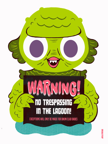 """No Trespassing"" 12 x 16 limited edition poster print"