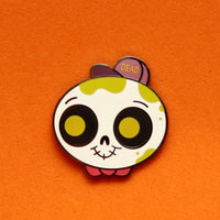 """Slime Skull"" Halloween exclusive hard enamel pin"