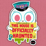 Officially Haunted cutout print