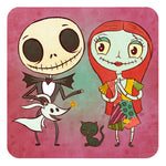 """Jack and Sally"" 8 x 8 limited edition art print"