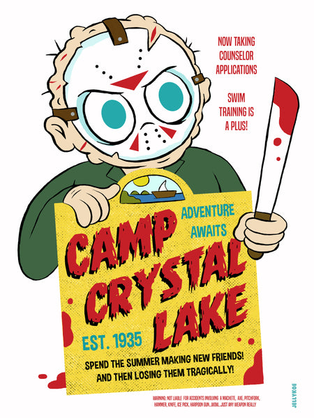 """Camp Crystal Lake"" 12 x 16 special edition poster print"