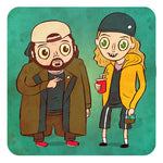 """Jay and Silent Bob"" 8 x 8 limited edition art print"