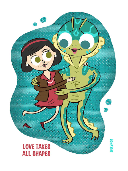 """Love Takes All Shapes"" 12 x 16 limited edition poster print"