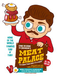 """Meat Palace"" 12 X 16 limited edition poster"