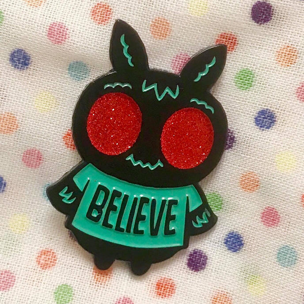 """Mothman"" soft enamel pin"