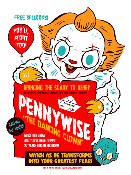 """Pennywise the Dancing Clown"" 12 x 16 poster"
