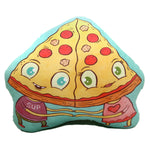 """Pizza Lovers"" plush art pillow"