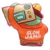 """Slow Jams"" plush art pillow"