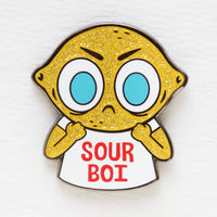 """Sour Boi"" hard enamel pin"