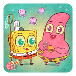 """Spongebob and Patrick"" 8 x 8 limited edition print"