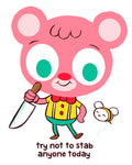 """Stabbington Bear"" 8 x 10 limited edition print"