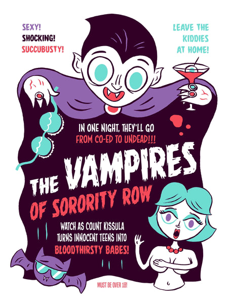"""The Vampires of Sorority Row"" 12 X 16 limited edition poster"
