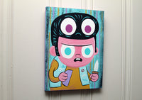 """Tommy Toupee"" 9x12 original painting"