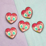 """Monster Heart"" hard enamel pin"