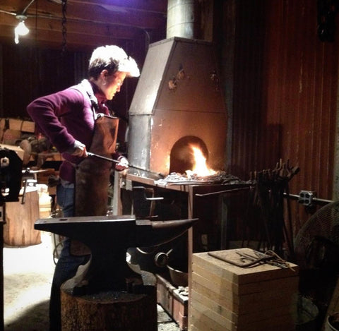 Liz Covert at the Forge