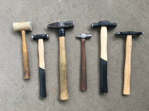 Liz's Collection of Hammers, some