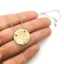 Load image into Gallery viewer, Brass Circle Necklace