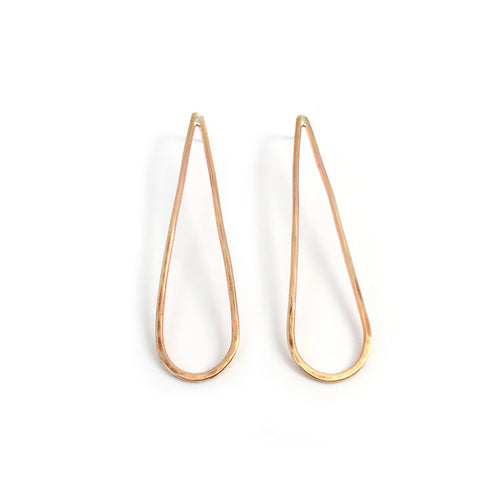 Brass Long Drop Earrings