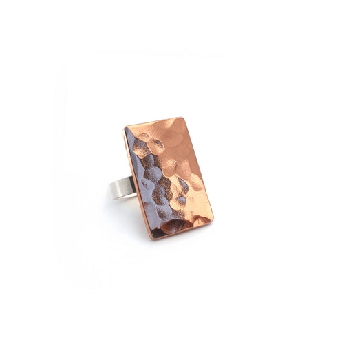 Copper Bar Statement Ring