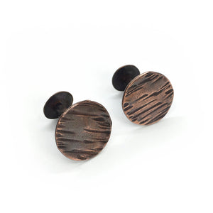 Copper Twist Cuff Links