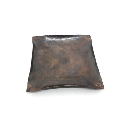 Square Copper Patina Valet Tray