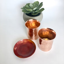 Load image into Gallery viewer, Forged Copper Votive Candle Holders
