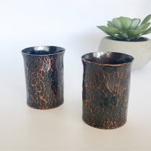 Load image into Gallery viewer, Forged Copper Votive Candle Holders with Patina