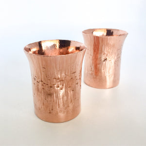 Forged Copper Votive Candle Holders