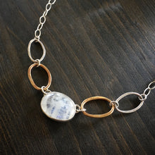 Load image into Gallery viewer, Oval Moonstone and Brass Necklace