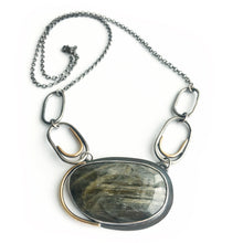 Load image into Gallery viewer, Labradorite Silver Pendant