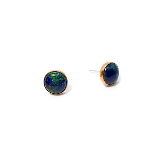 Azurite & Malachite Stud Earrings