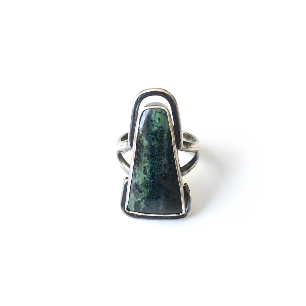 Zoisite Warrior Shield Ring